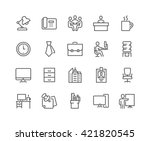 simple set of office related... | Shutterstock .eps vector #421820545