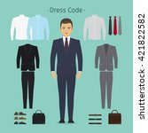 business man clothes. young man ... | Shutterstock .eps vector #421822582