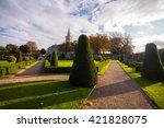 Stock photo royal hospital kilmainham gardens in dublin city ireland 421828075