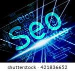 seo word showing online... | Shutterstock . vector #421836652