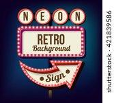 3d vintage street sign. retro... | Shutterstock . vector #421839586
