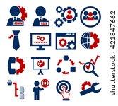 system  user  administrator... | Shutterstock .eps vector #421847662