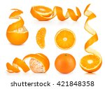 collection of orange  slice and ... | Shutterstock . vector #421848358
