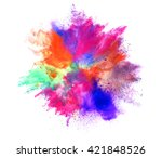 explosion of colored powder on... | Shutterstock . vector #421848526
