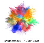 explosion of colored powder on... | Shutterstock . vector #421848535