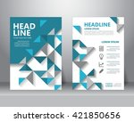 abstract business brochure... | Shutterstock .eps vector #421850656