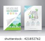 environment ecology brochure... | Shutterstock .eps vector #421852762