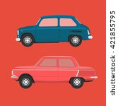 soviet cars | Shutterstock . vector #421855795