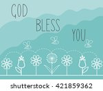 biblical background with... | Shutterstock .eps vector #421859362