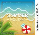 summer holiday | Shutterstock .eps vector #421869166