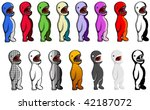 multicolored vector cartoon... | Shutterstock .eps vector #42187072