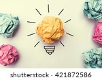 creative idea.concept of idea... | Shutterstock . vector #421872586
