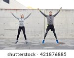 fitness  sport  people ... | Shutterstock . vector #421876885