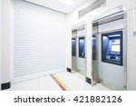 atm automatic telling machine   | Shutterstock . vector #421882126