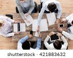 business  people and team work... | Shutterstock . vector #421883632
