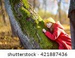 cute little girl having fun on... | Shutterstock . vector #421887436