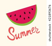 vector summer illustration with ... | Shutterstock .eps vector #421893676