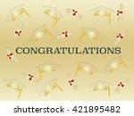 graduation ceremony.... | Shutterstock .eps vector #421895482