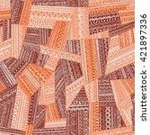 seamless pattern of patchwork....   Shutterstock .eps vector #421897336