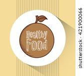 healthy food design  | Shutterstock .eps vector #421900066