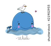 Little Pretty Whale And Seagull....