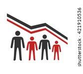 demographic decline | Shutterstock .eps vector #421910536