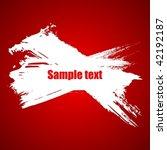 color paint grunge splash... | Shutterstock .eps vector #42192187
