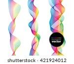 abstract wave spectrum line... | Shutterstock .eps vector #421924012
