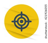 dark target icon label on... | Shutterstock .eps vector #421926055