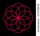 abstract vector illustration.... | Shutterstock .eps vector #421928656
