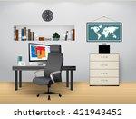 home office | Shutterstock .eps vector #421943452