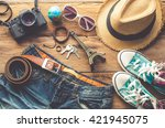 clothing and accessories for... | Shutterstock . vector #421945075