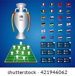 euro 2016 france. vector flags... | Shutterstock .eps vector #421946062