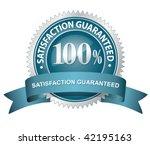 100  satisfaction guaranteed... | Shutterstock .eps vector #42195163