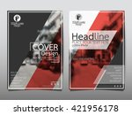 red magazine annual report... | Shutterstock .eps vector #421956178