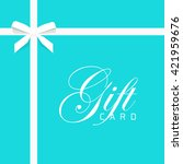 gift card illustration on blue... | Shutterstock . vector #421959676