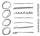 underline set brush line set ... | Shutterstock .eps vector #421959685