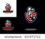 sports logo template with the... | Shutterstock .eps vector #421971712