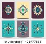 vector brochure design template ... | Shutterstock .eps vector #421977886