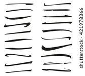 hand lettering underlines lines ... | Shutterstock .eps vector #421978366