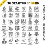 startup business pixel perfect... | Shutterstock .eps vector #421978525