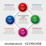 colorful infographics template... | Shutterstock .eps vector #421981408
