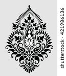 traditional indian motif | Shutterstock .eps vector #421986136
