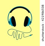 headphone icon   headphone icon ... | Shutterstock .eps vector #421986538
