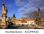 the tower on the charles bridge ... | Shutterstock . vector #42199432