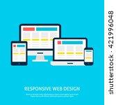 responsive web design gadgets... | Shutterstock .eps vector #421996048