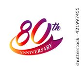 anniversary emblems 80... | Shutterstock .eps vector #421997455