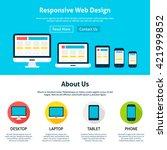 responsive flat web design...