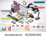 illustration of info graphic... | Shutterstock .eps vector #422000182