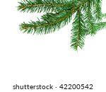 christmas tree isolated on the... | Shutterstock . vector #42200542